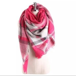 Pink triangle blanket scarf